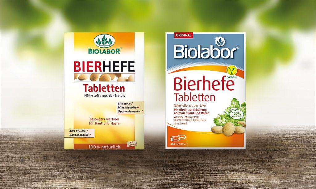 Biolabor Bierhefe Tabletten Altes Links Und Neues Design