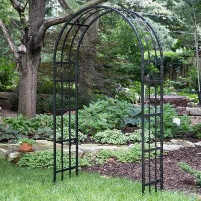 Border Concepts 7 Ft Colchester Garden Arch Arbor Black 72168