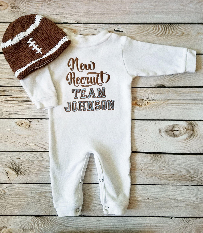 Team Childrens Football Sleepsuit Baby Boys Newborn Clothing