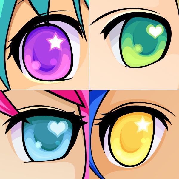 Photoshop Color Inspiration: How To Draw And Color Anime-Styled Eyes In Adobe Photoshop