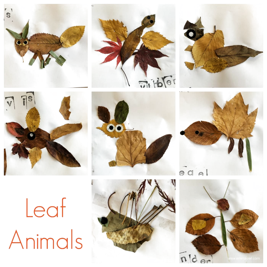 Leaf Animals!  Great autumn project for art class or a terrific fall activity to...#activity #animals #art #autumn #class #fall #great #leaf #project #terrific