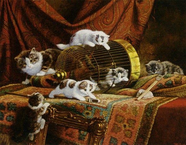 14-Chats dans l\'art classique de Cornelius Raaphorst | Art peinture ...