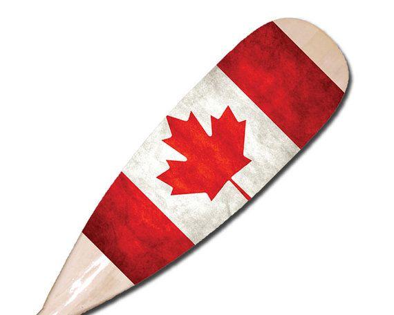 Vintage Canadian Flag Paddle 48 Paddle Decorative Cottage Gift Nautical Decor Canoe Paddle Wedding Gift Wall Hanging Decorative Oar Cottage Gifts Painted Oars Oar Decor