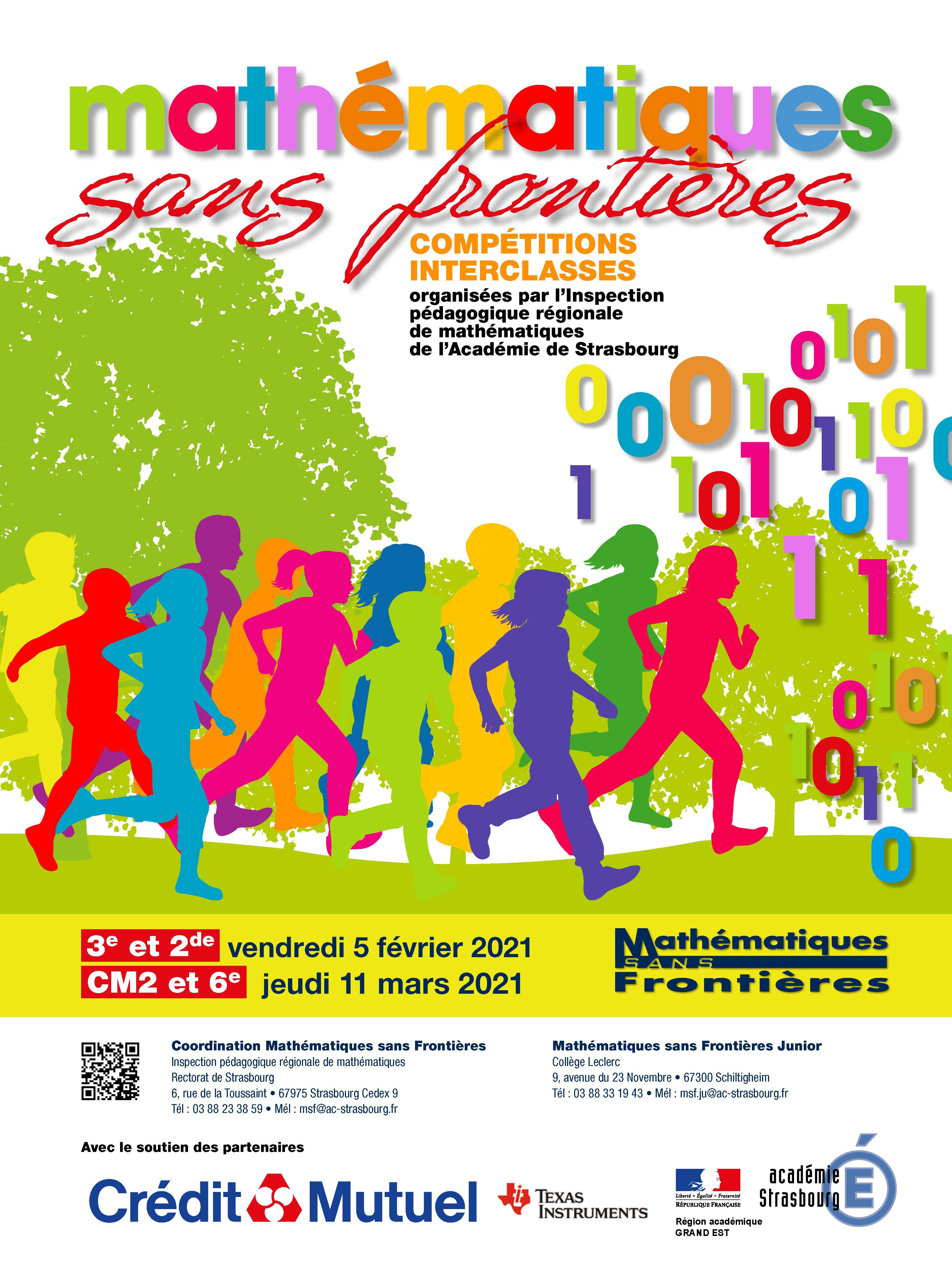 Mathematiques Sans Frontieres Et Mathematiques Sans Frontieres Junior Mathematiques Junior Frontieres