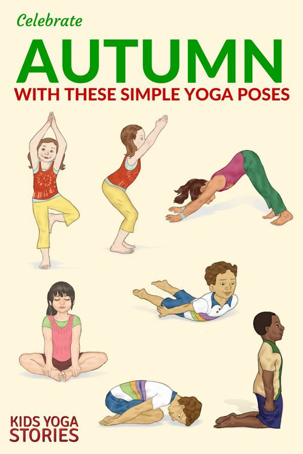 graphic about Yoga Poses for Kids Printable called 10 Autumn Yoga Poses for Youngsters (Printable Poster Conditioning
