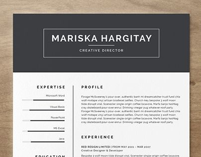 Check out this @Behance project \u201cHigh End FREE Resume CV for Word + - free resume design templates