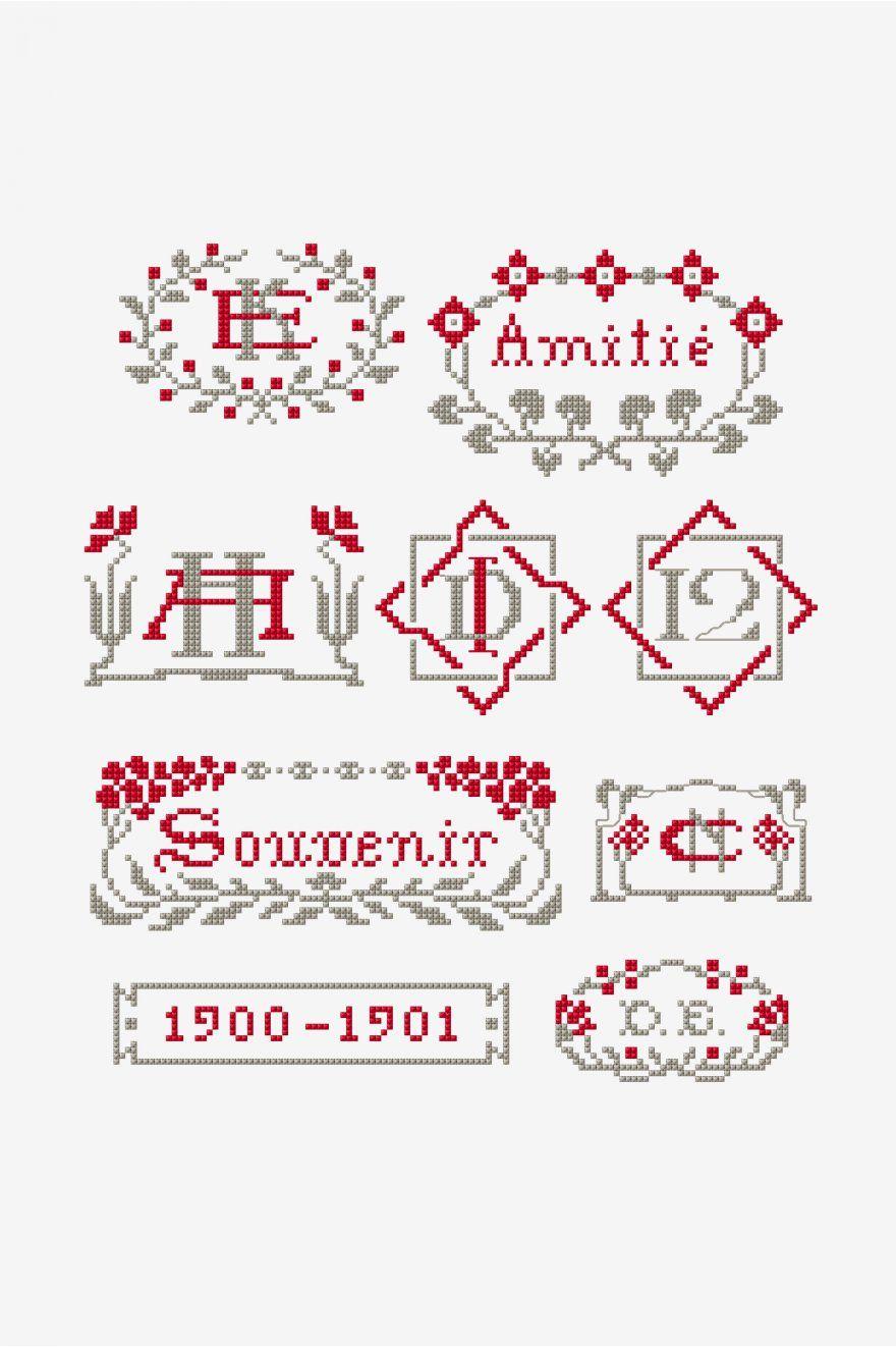 Point de marque 11 pattern | Stitch: Art Nouveau/Stained Glass ...