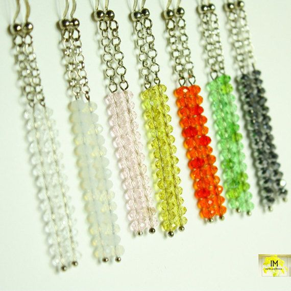 Today Skinny earringsSwarovski earrings handmade by IMstudio7