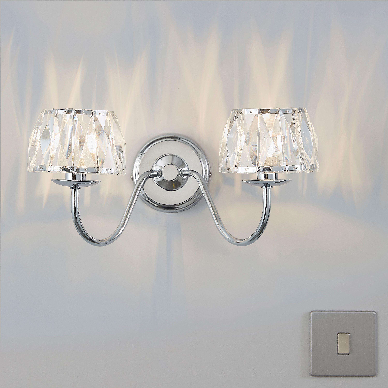 Living room lights b q bathroom bathroom wall lights bq neuro tic waldor chrome effect single wall light departments diy at b q aloadofball Images