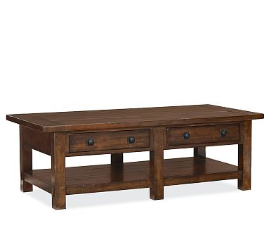 Benchwright Coffee Table, Rustic Mahogany