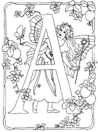 Coloring Pages~Fairies ABC\'S - Bonnie Jones - Álbumes web de Picasa ...