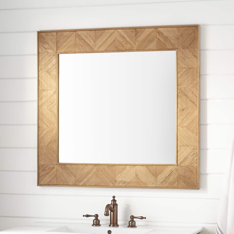 Garton Oak Vanity Mirror Distressed Oak Bathroom Mirror Vanity Mirror Decorative Bathroom Mirrors
