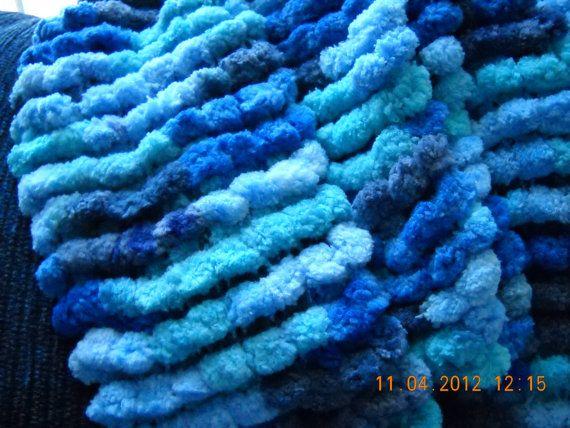 Small Pom-Pom scarf on Etsy, $30.00