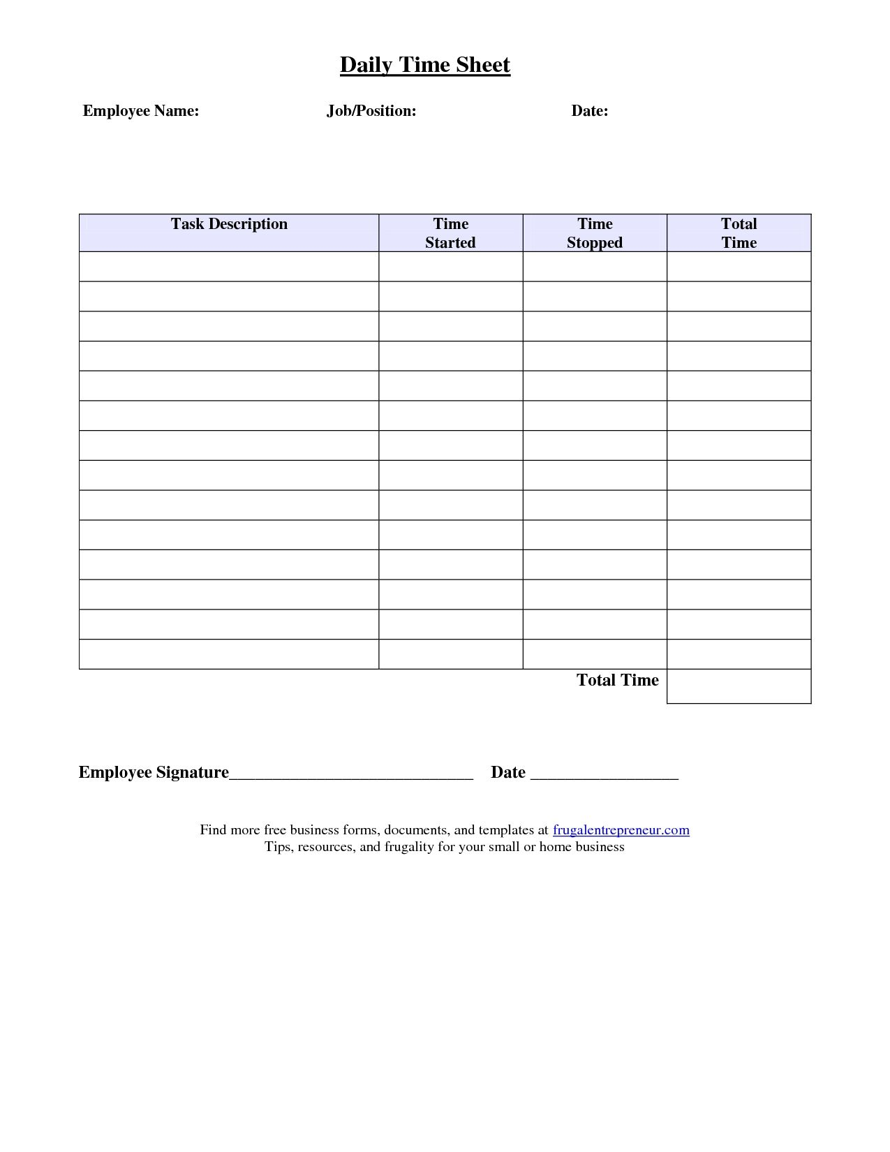 job sheet format excel best photos of job time sheet template6