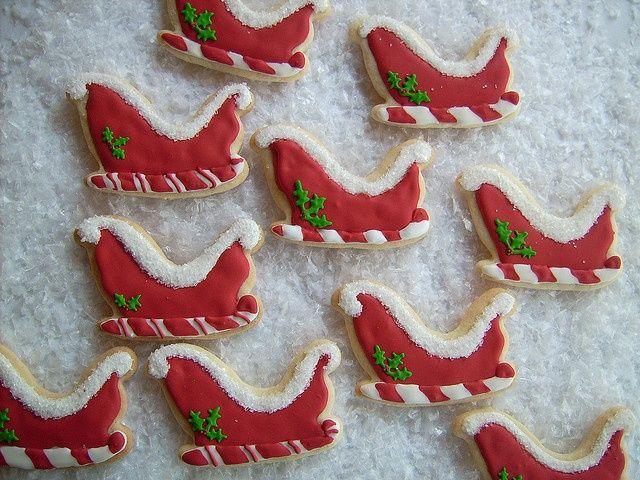 Christmas Cookies Pinterest.Sleigh Cookies Cookies Pinterest Christmas Cookies
