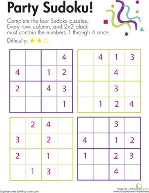 Party Sudoku!   Ejercicios y Series