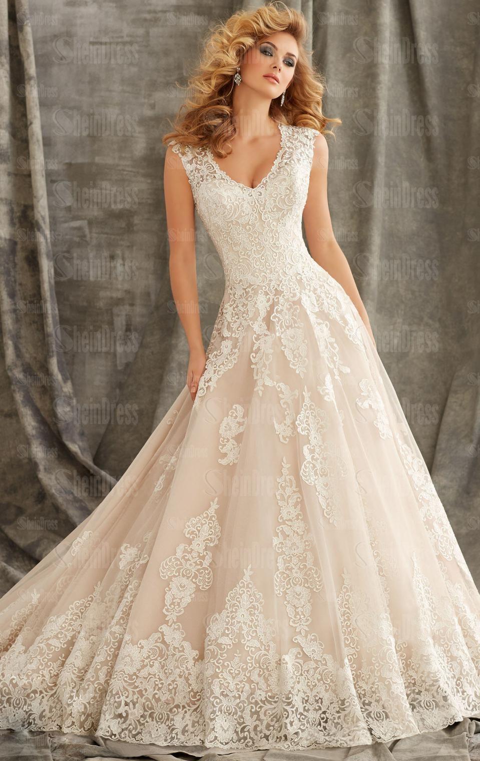 Beautiful Vintage Lace Princess Wedding Dress Hsnci0002 Sheindressau