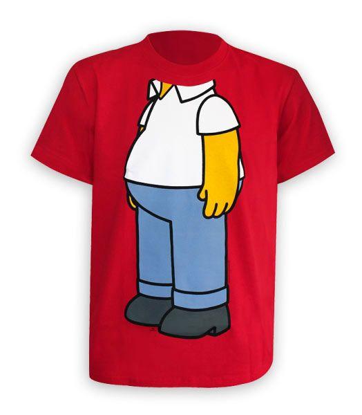 3d3ac346d Divertidísima camiseta con el cuerpo de Homer de Los Simpson ...