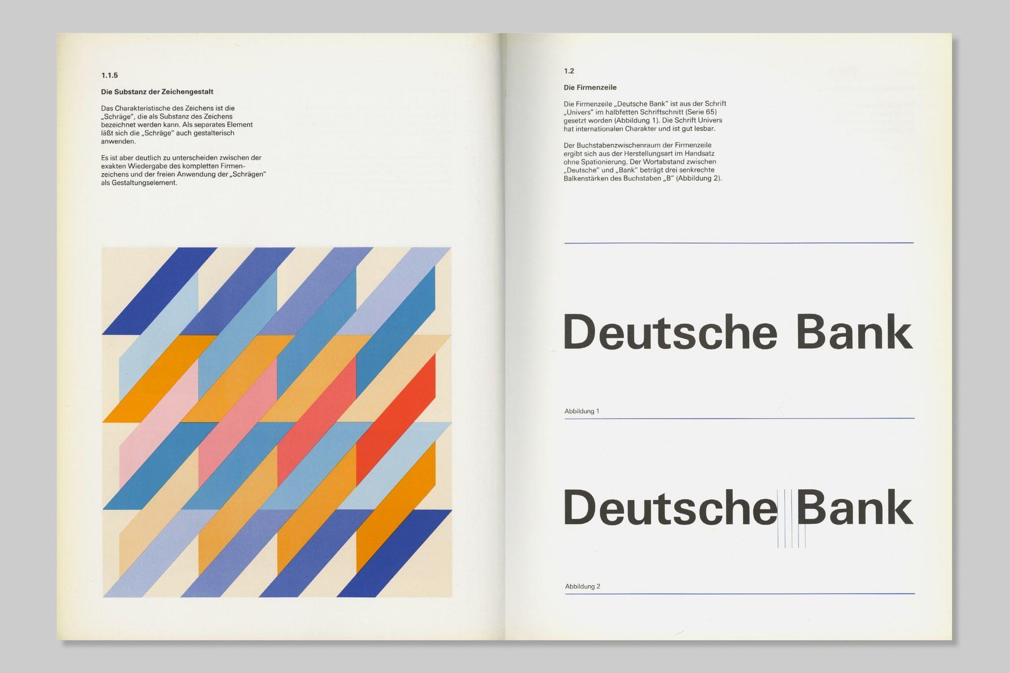 Presented Here Is The Erscheinungsbild Deutsche Bank Typografie Design Manual Articulating The Design System Graphic Design Books Book Design Graphic Design