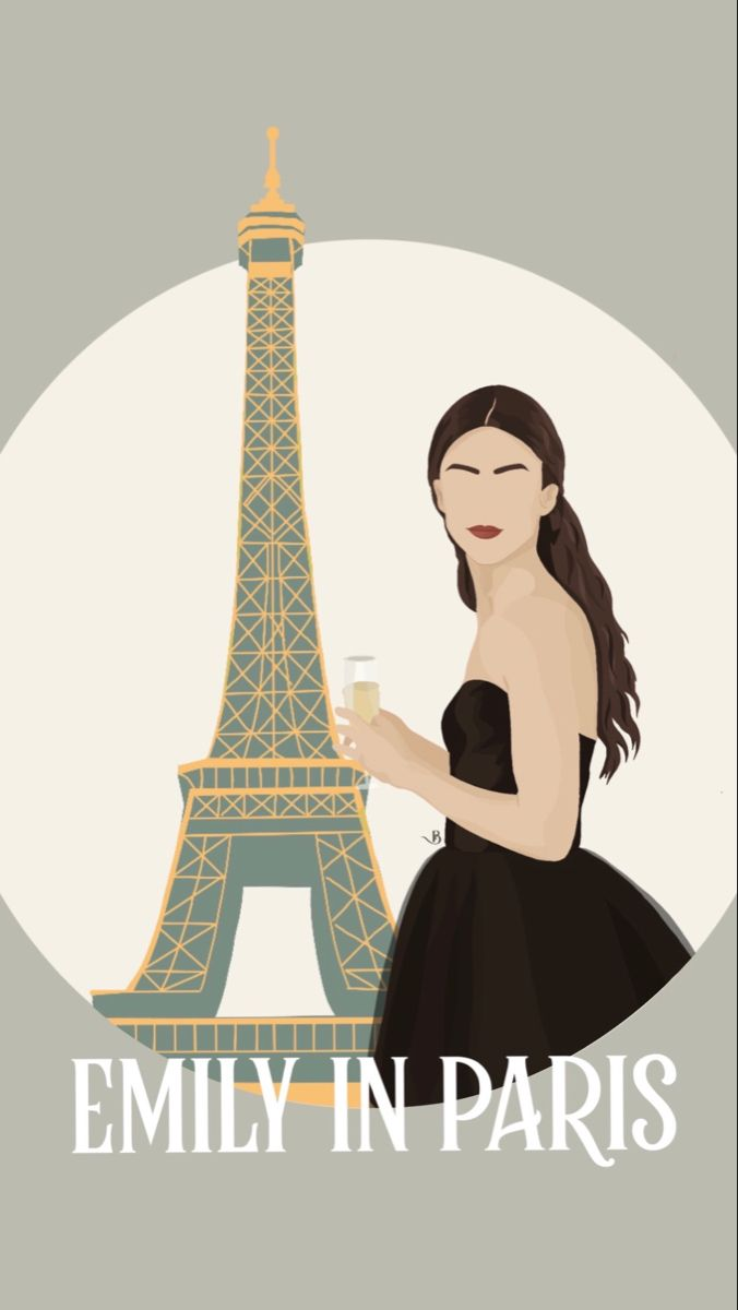Lily Collins, Emily in Paris | Custom Portrait Ill