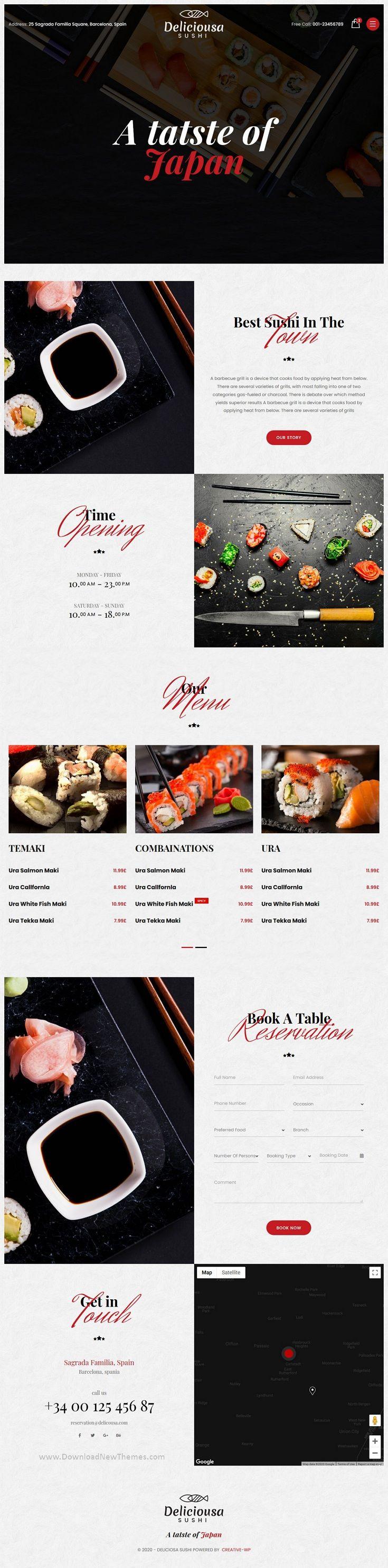 Japanese Sushi Premium Food & Restaurant Multipurpose