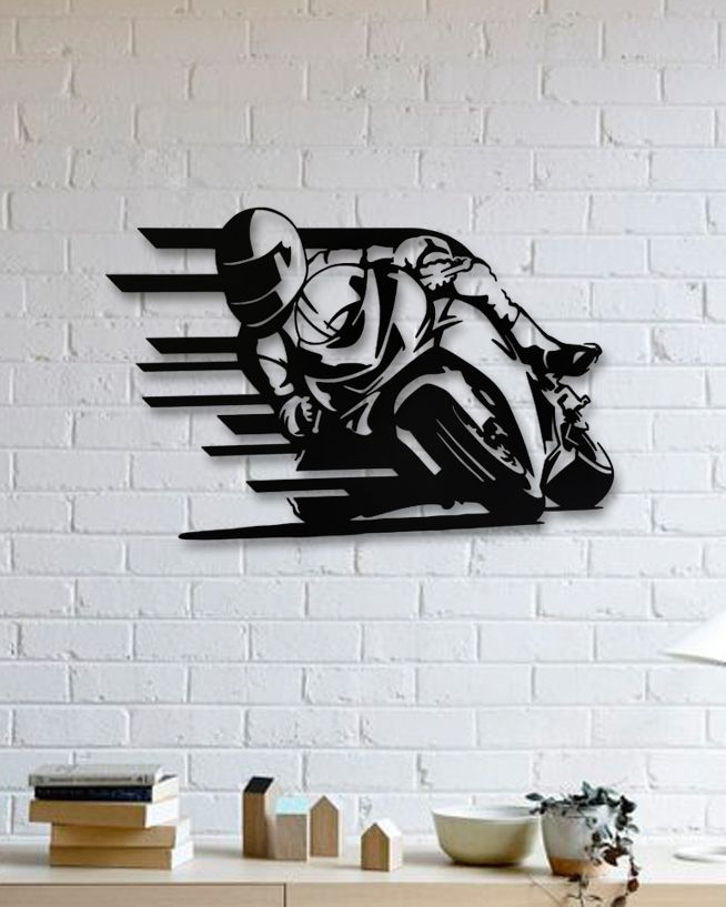 Unique custom designed wall decoration product,Motocycles Metal Wall Art
