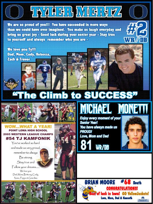 football program parent ads examples google search photo ideas