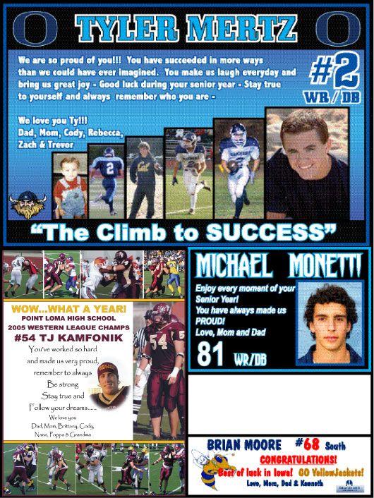 football program parent ads examples - Google Search photo ideas
