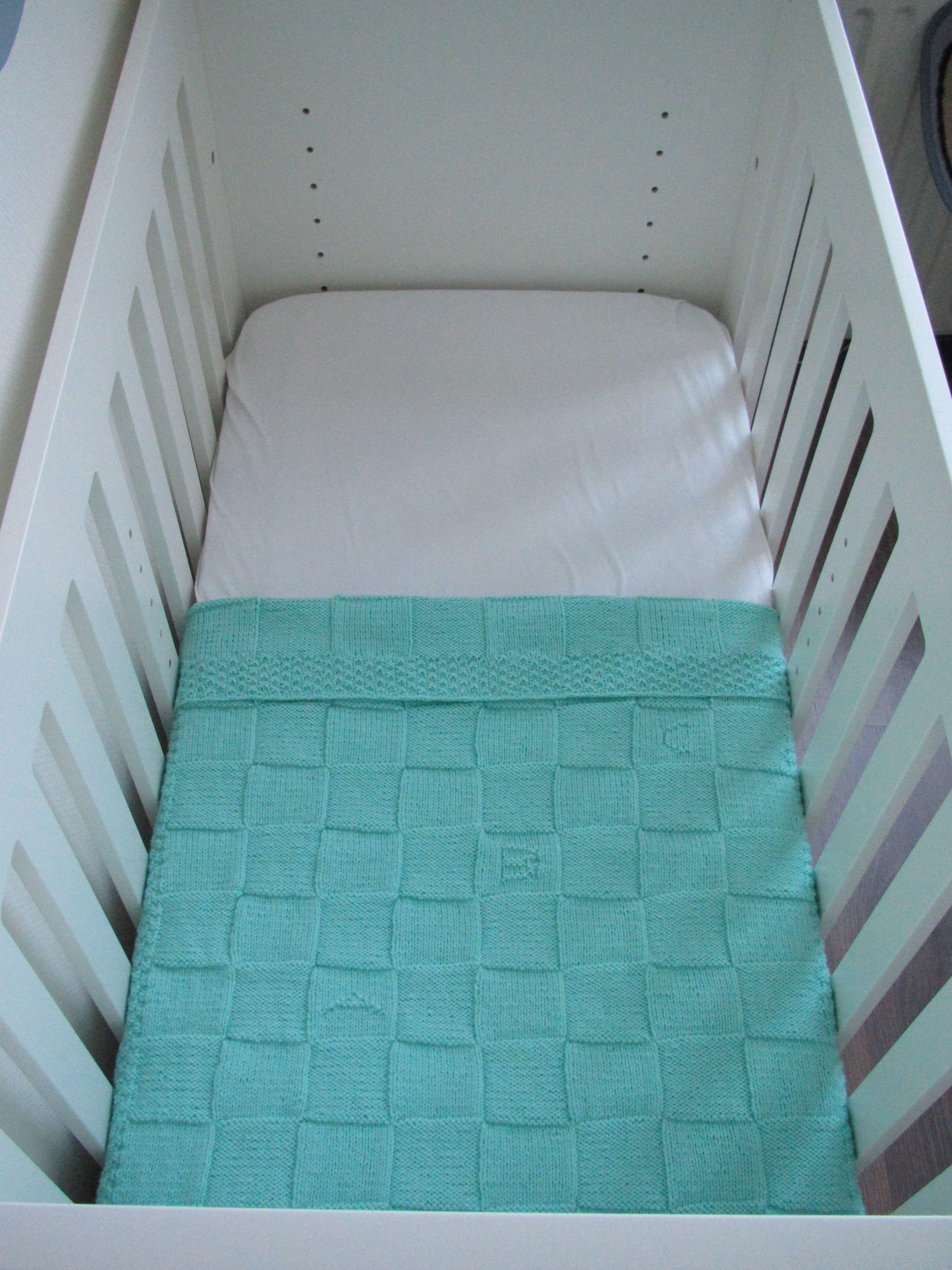 Mintgroene Babydeken 100 Acryl Crochetknittingembroidery
