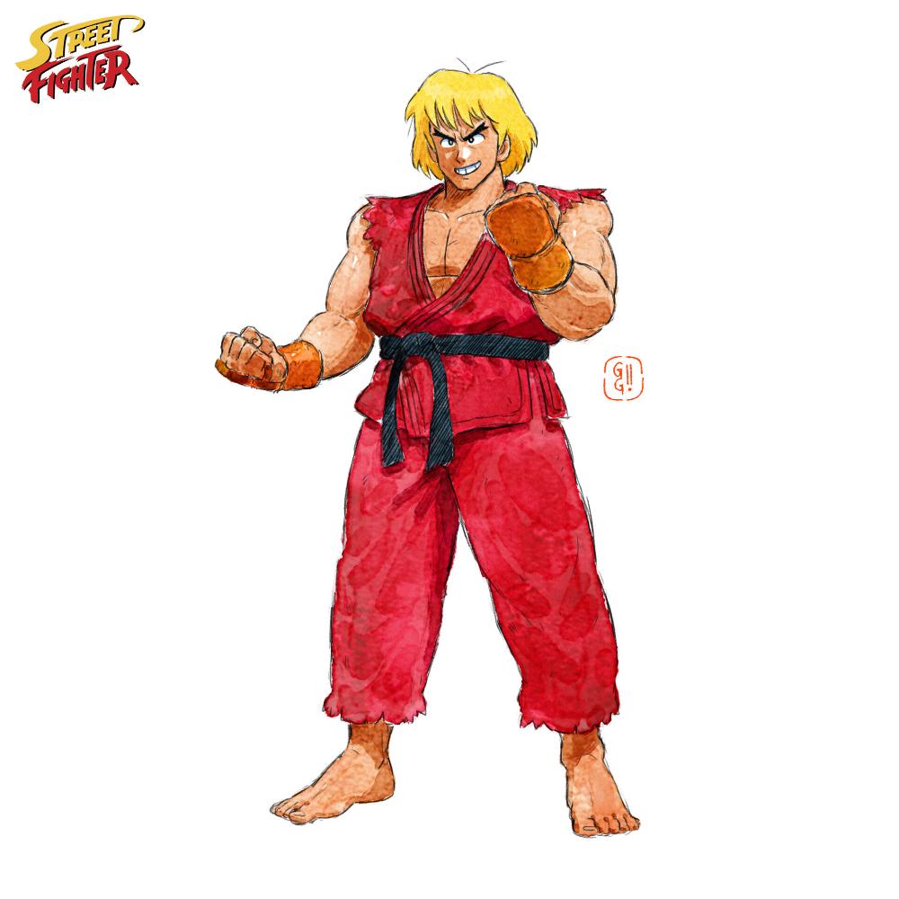 Artstation Street Fighter Ken Gop Gap Street Fighter Characters Street Fighter Art Street Fighter