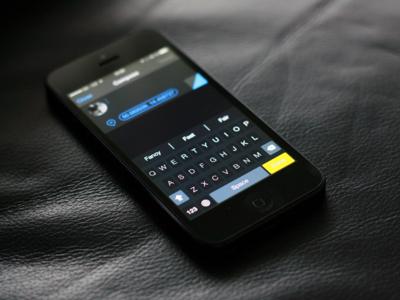 Dark Keyboard [iOS8 Concept]
