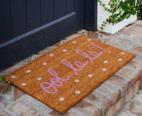 OOH LA LA Doormat. Adorable.