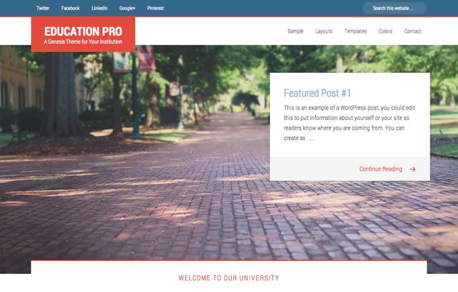 Education Pro un tema compatible con HTML5 y Genesis 2.0 ...