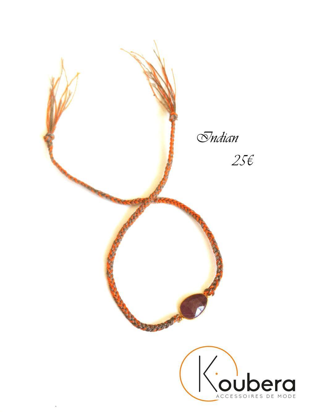 #Indian #bracelet #pierre naturelle #collection #koubera #accessoires #mode