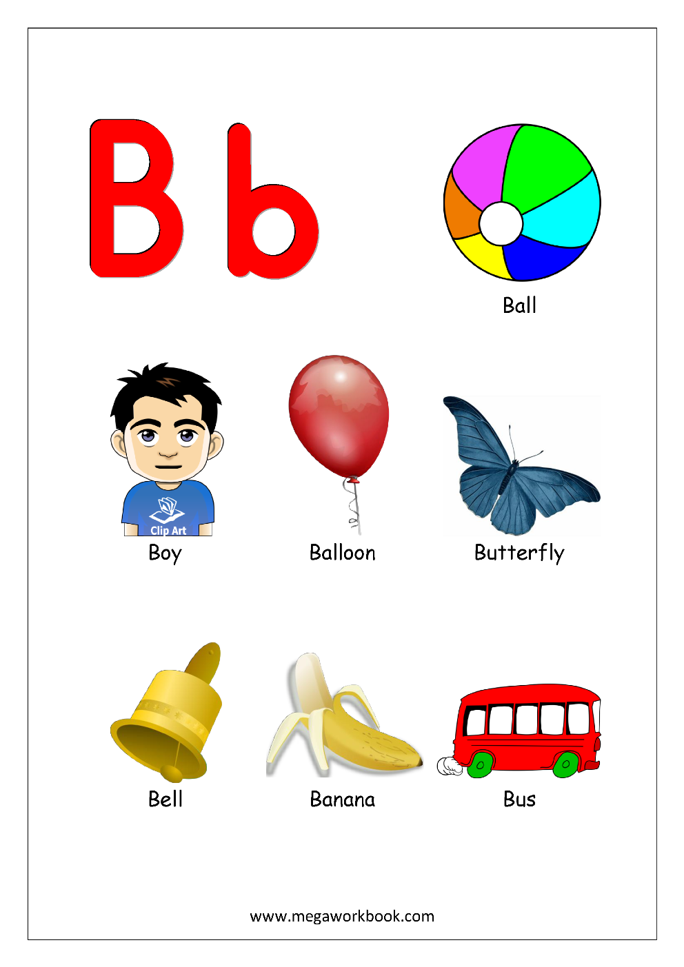 Things That Start With A B C D And Each Letter Alphabet Chart Objects Begin In 2020 Alphabet Preschool Alphabet Worksheets Preschool Preschool Alphabet Learning