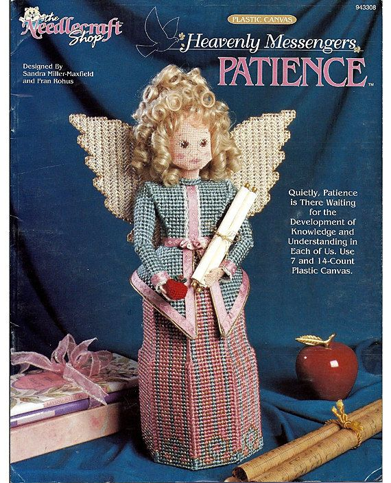 Heavenly Messengers angel plastic canvas pattern booklet NEW Charity