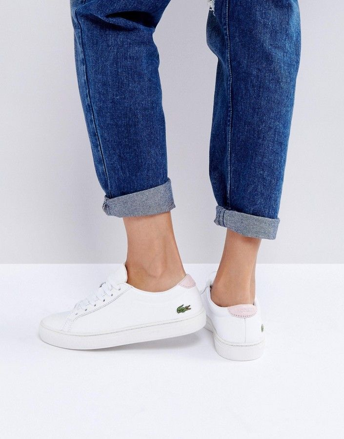 954042485b90 Lacoste L12 Sneakers In White And Light Pink | shoes. in 2019 ...
