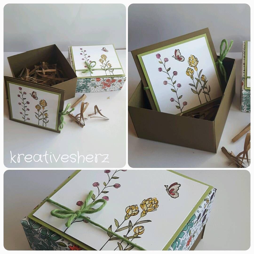 Eine einfache#verpackungsbox#inkl.#kärtchen#und platz zum was reintun#stampinup#verschenken#geschenkideenmitpapier#kreativesherz#