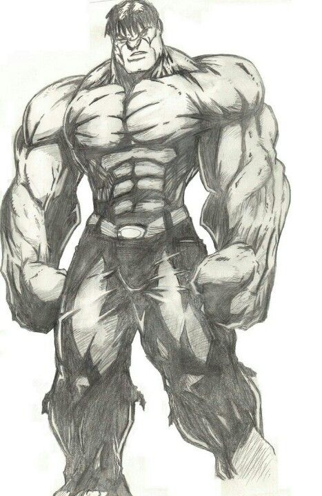 Good Hulk Drawing