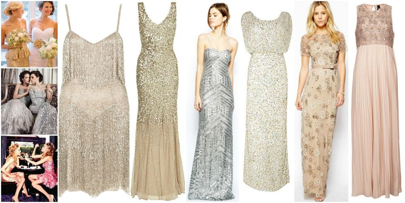 Gold dresses for wedding  bridesmaid dresses for the sparkle enthusiast  Weddings  Pinterest
