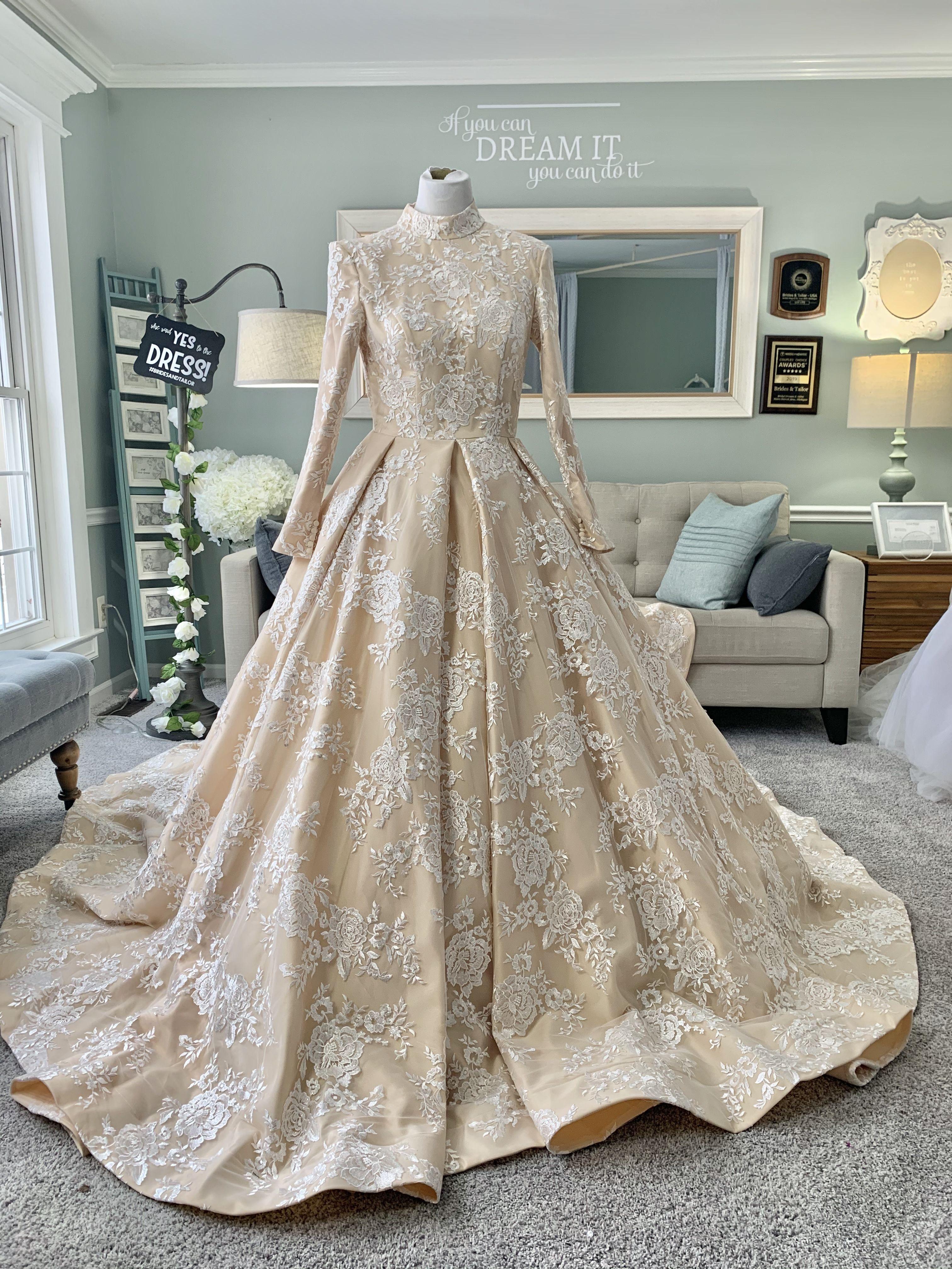 Custom Hijab Wedding Dress By Brides Tailor Brides Tailor Custom Hijab Wedding Dress By Brides Tailor In 2020 Wedding Dress Sleeves Wedding Dress Long Sleeve Conservative Wedding Dress