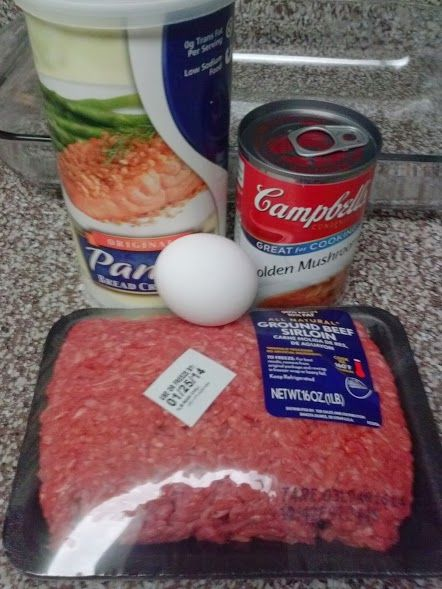 Golden Mushroom Soup Meatloaf Easy To Make Egg Bread Crumbs And Ground Beef Recipe And A Vine Of It Is N Golden Mushroom Soup Stuffed Mushrooms Meatloaf