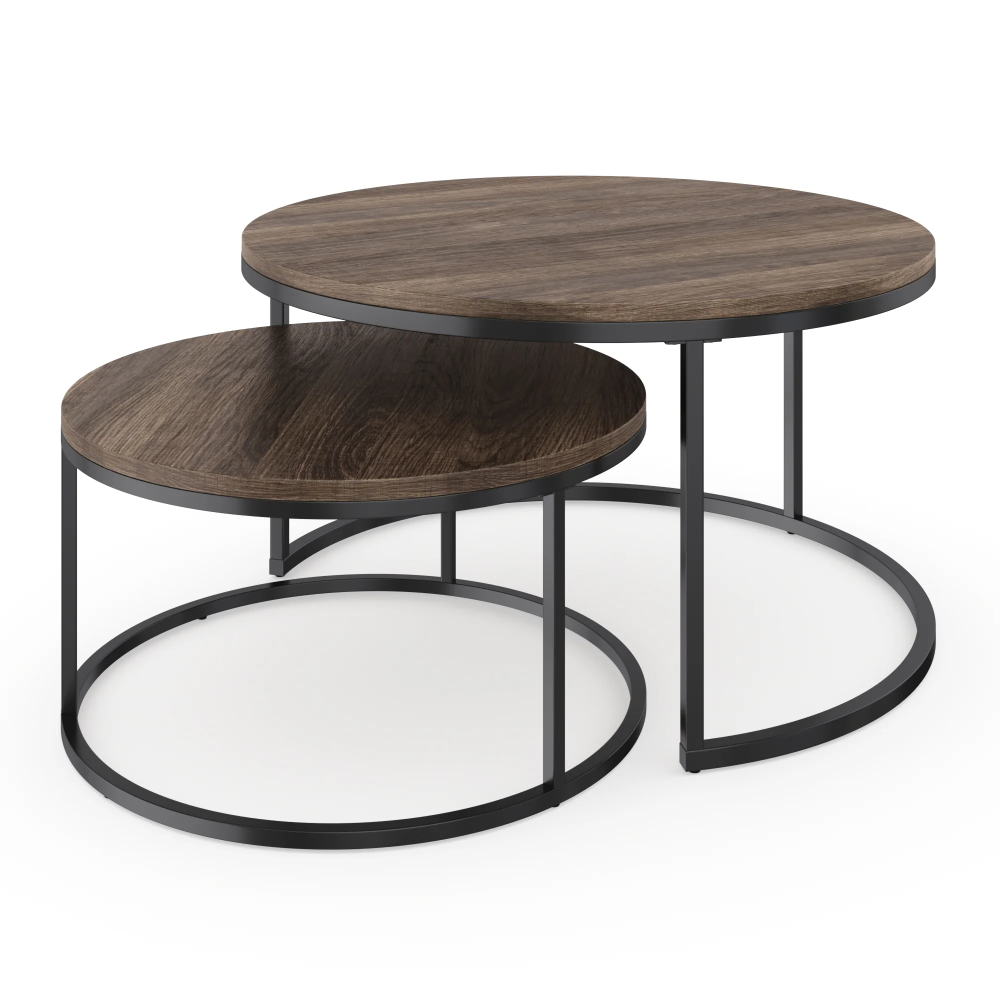 Maywood Frame 2 Nesting Tables Nesting Coffee Tables Round Nesting Coffee Tables Coffee Table [ 1000 x 1000 Pixel ]