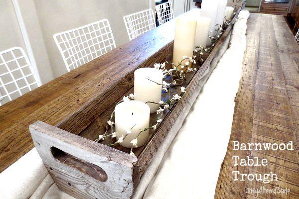 Diy Barnwood Table Trough