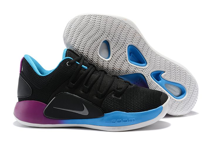 online retailer 7b68a 4ec21 Nike Hyperdunk X Low EP 2018 Black Purple-Blue Men s Basketball Shoes