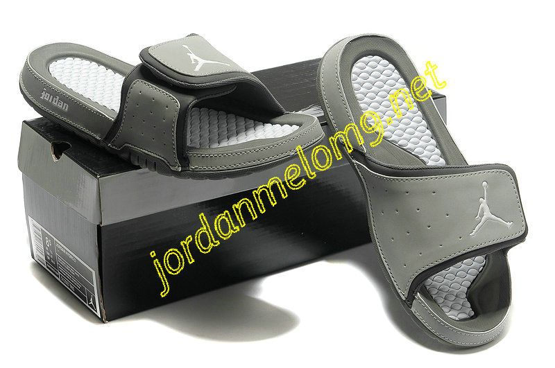 27c6d8d20eed95 Jordan Hydro 2 Premier Slides Sandals Cool Grey White