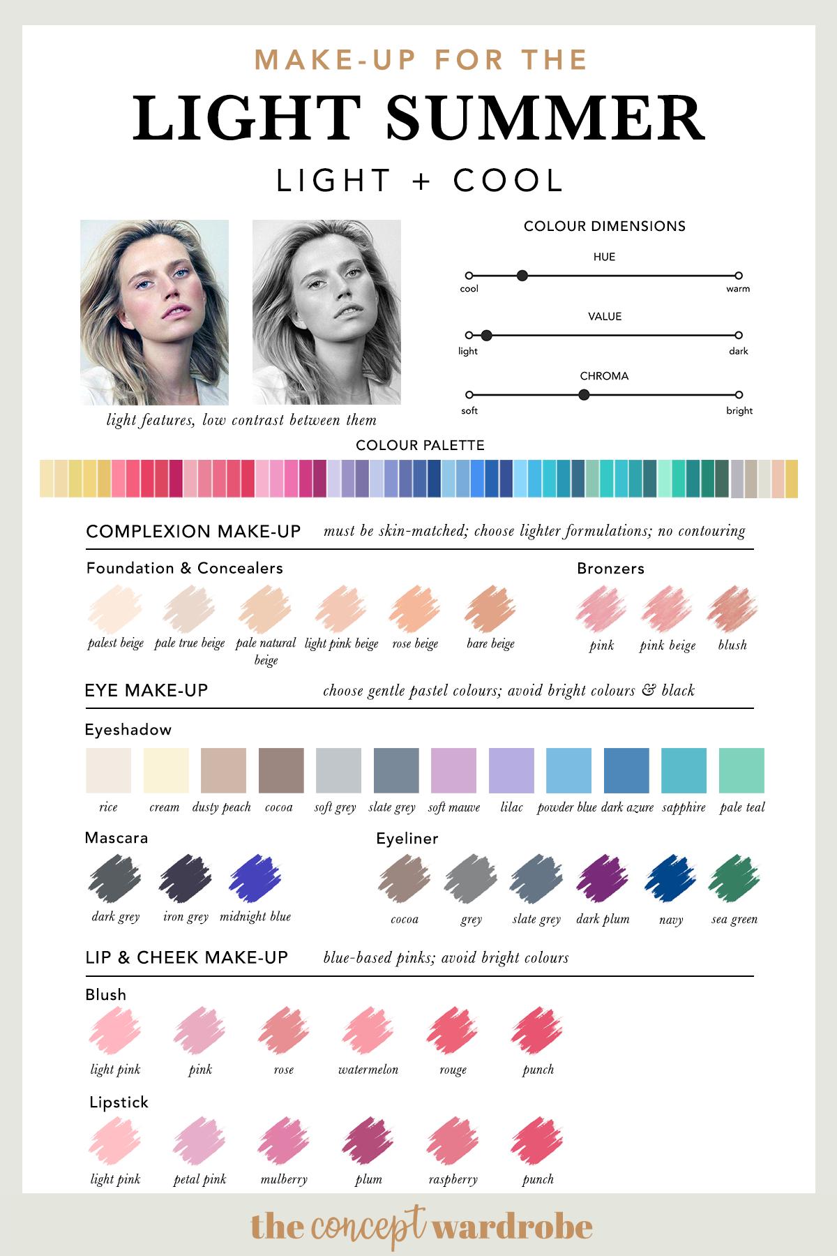 Summer Coloring Makeup Designs Trend
