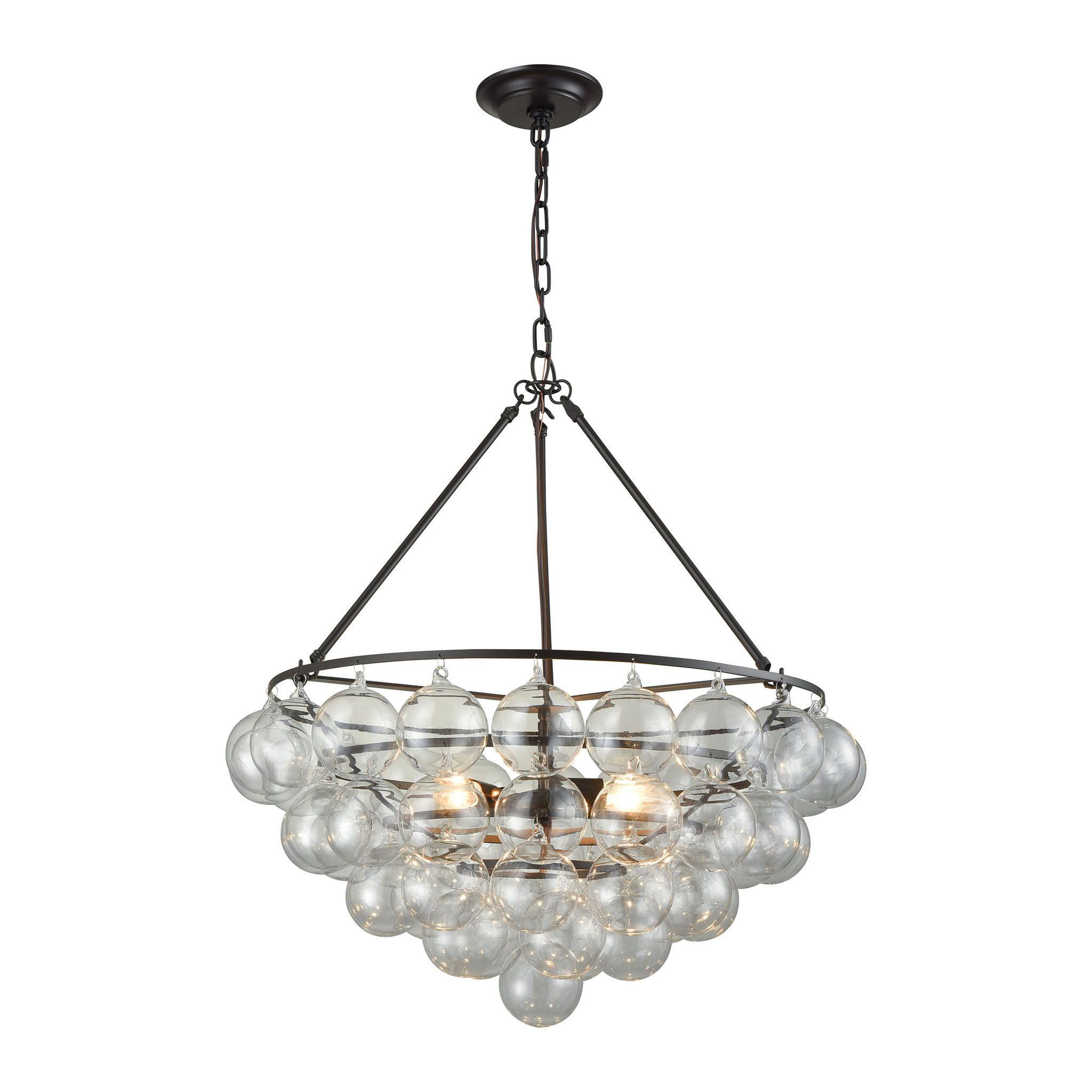 Cuvée Chandelier Small Oil Rubbed Bronze Clear from Contemporary