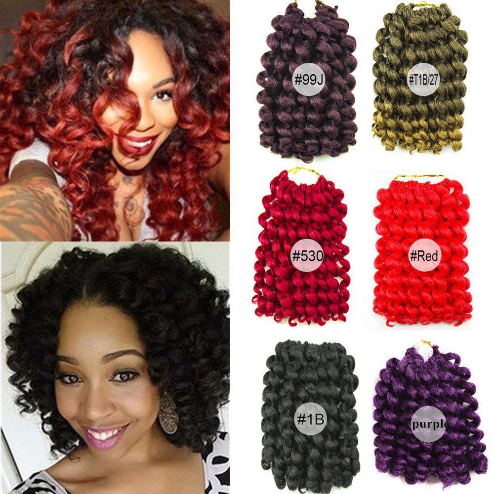 8'' Jumpy Wand Curl Twist Braid Crochet Synthetic Hair
