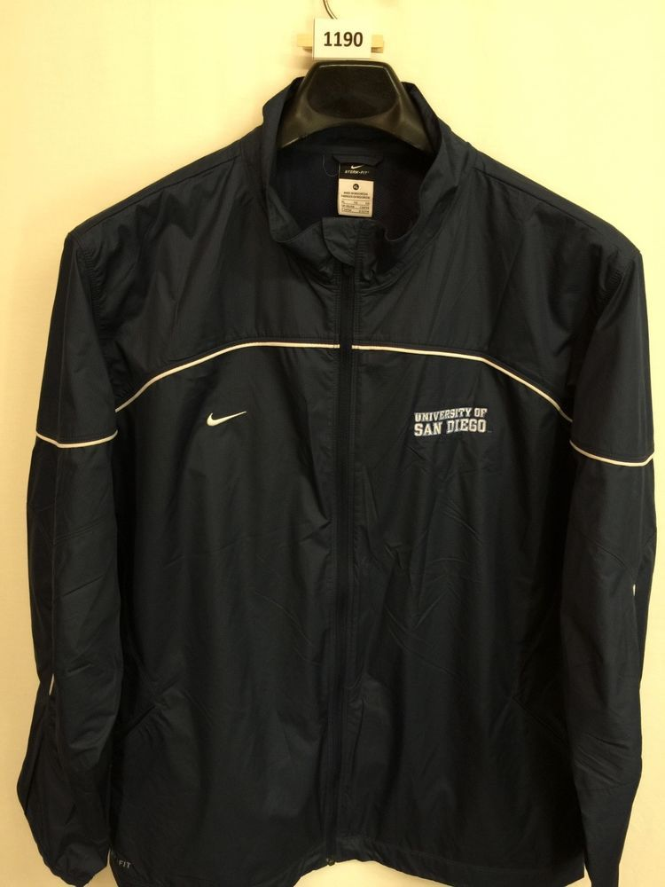 2f958728df6d MENS XL UNIVERSITY OF SAN DIEGO NIKE STORM -FIT WINDBREAKER JACKET BLUE   Nike  UNIVERSITYOFSANDIEGO